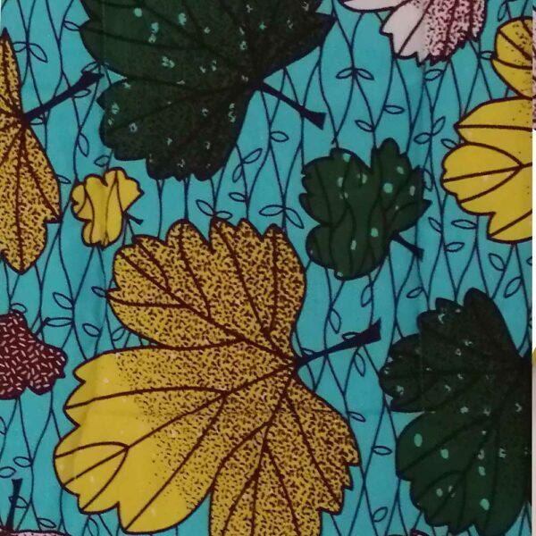 wax feuilles fond bleu